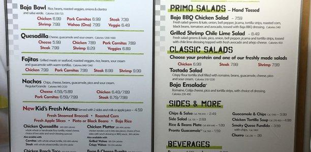 baja fresh menu image 1