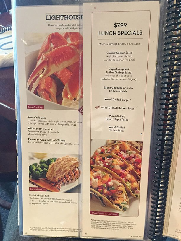 Red Lobster Page 17 Specials