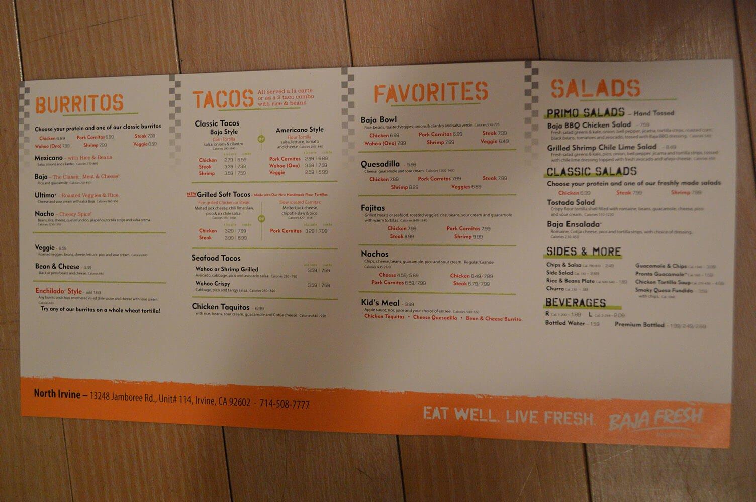 baja fresh menu image 5