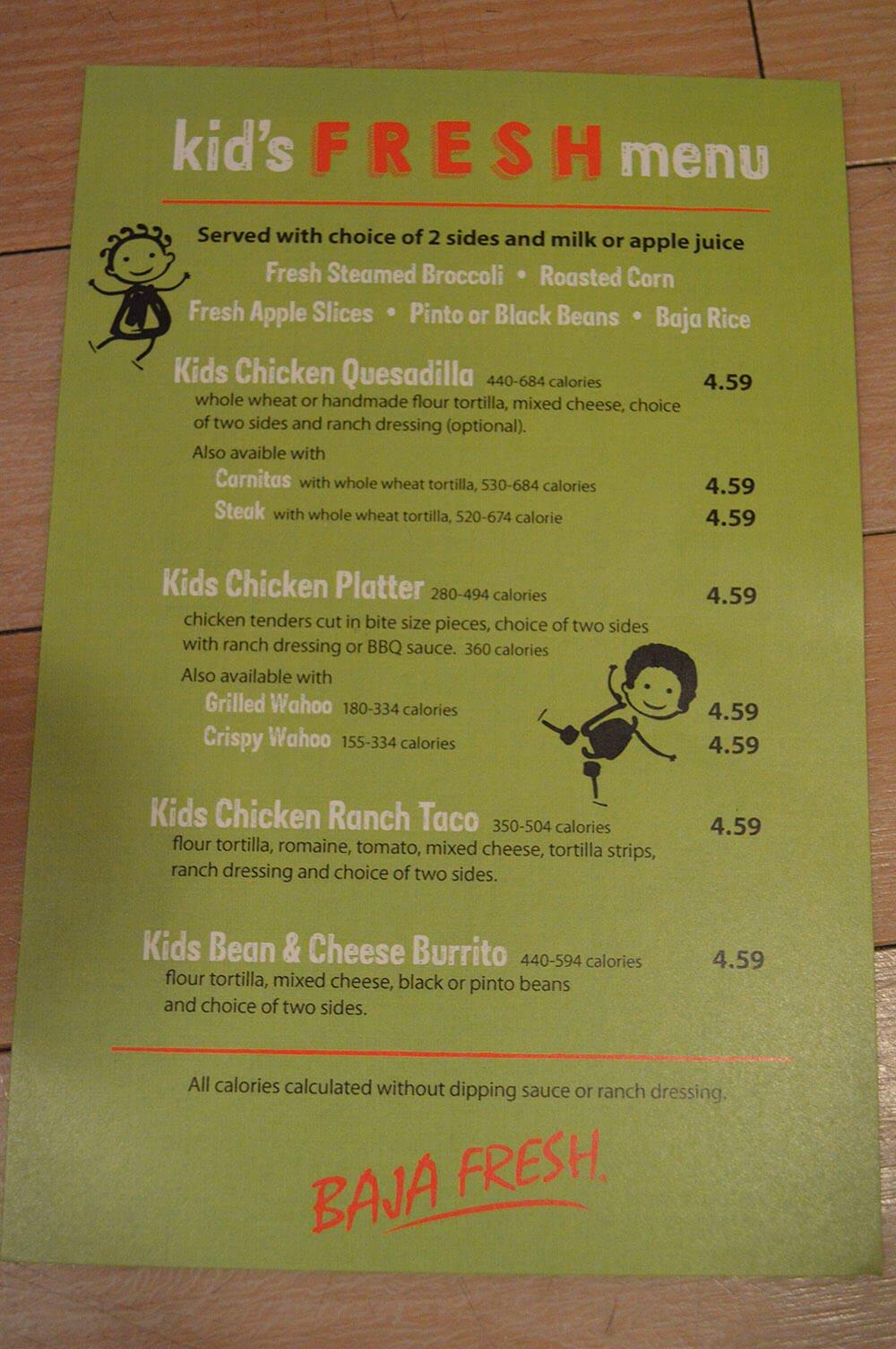 baja fresh menu image 7