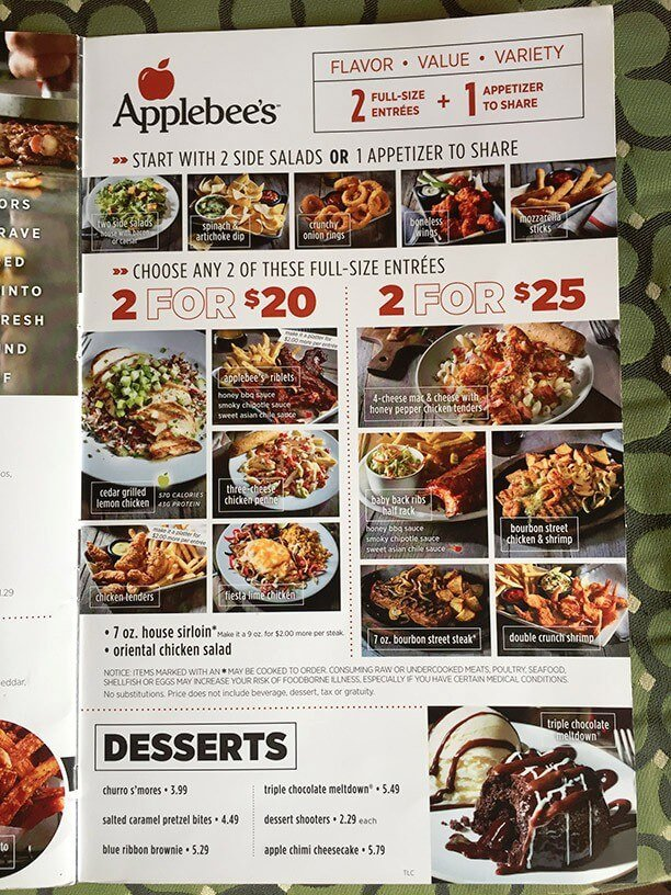 photo relating to Applebees Printable Menus identified as Applebees 20 for 20 menu / Retailer on the web canada absolutely free shipping and delivery