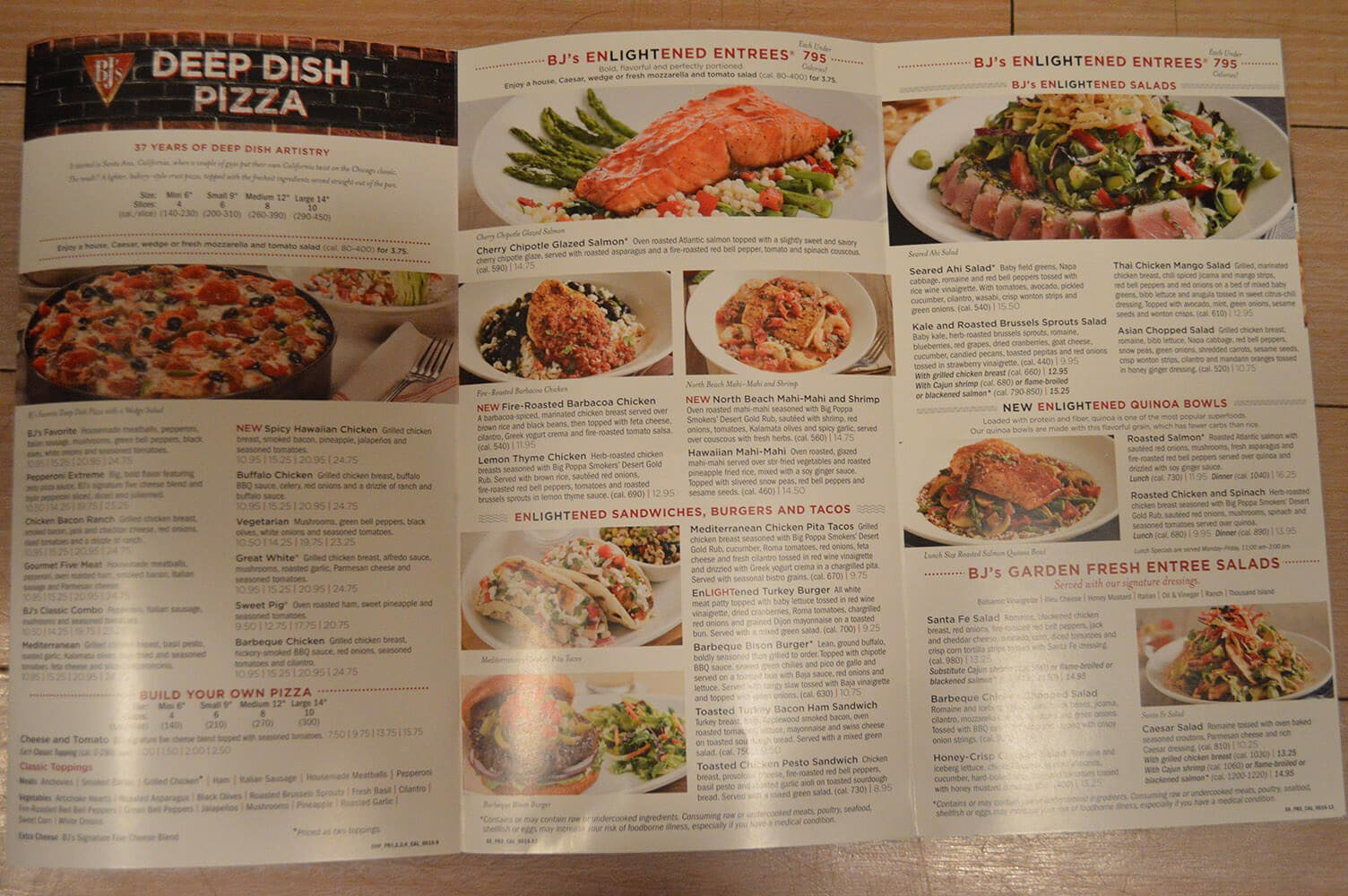 BJ\'s Restaurant Menu Prices