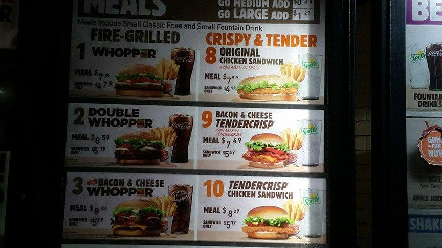Burger King Menu – 2