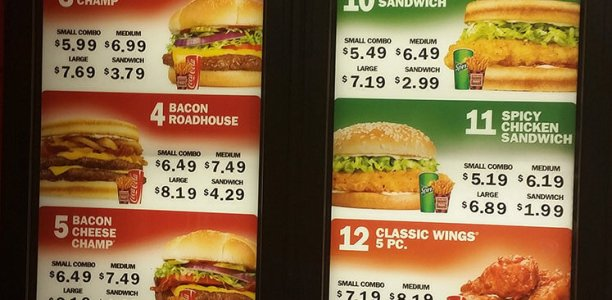 Checkers Menu – 1