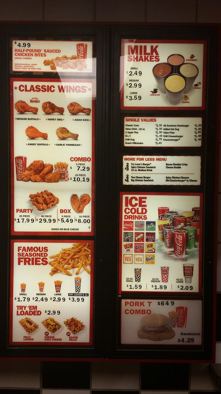 Checkers Menu – 2