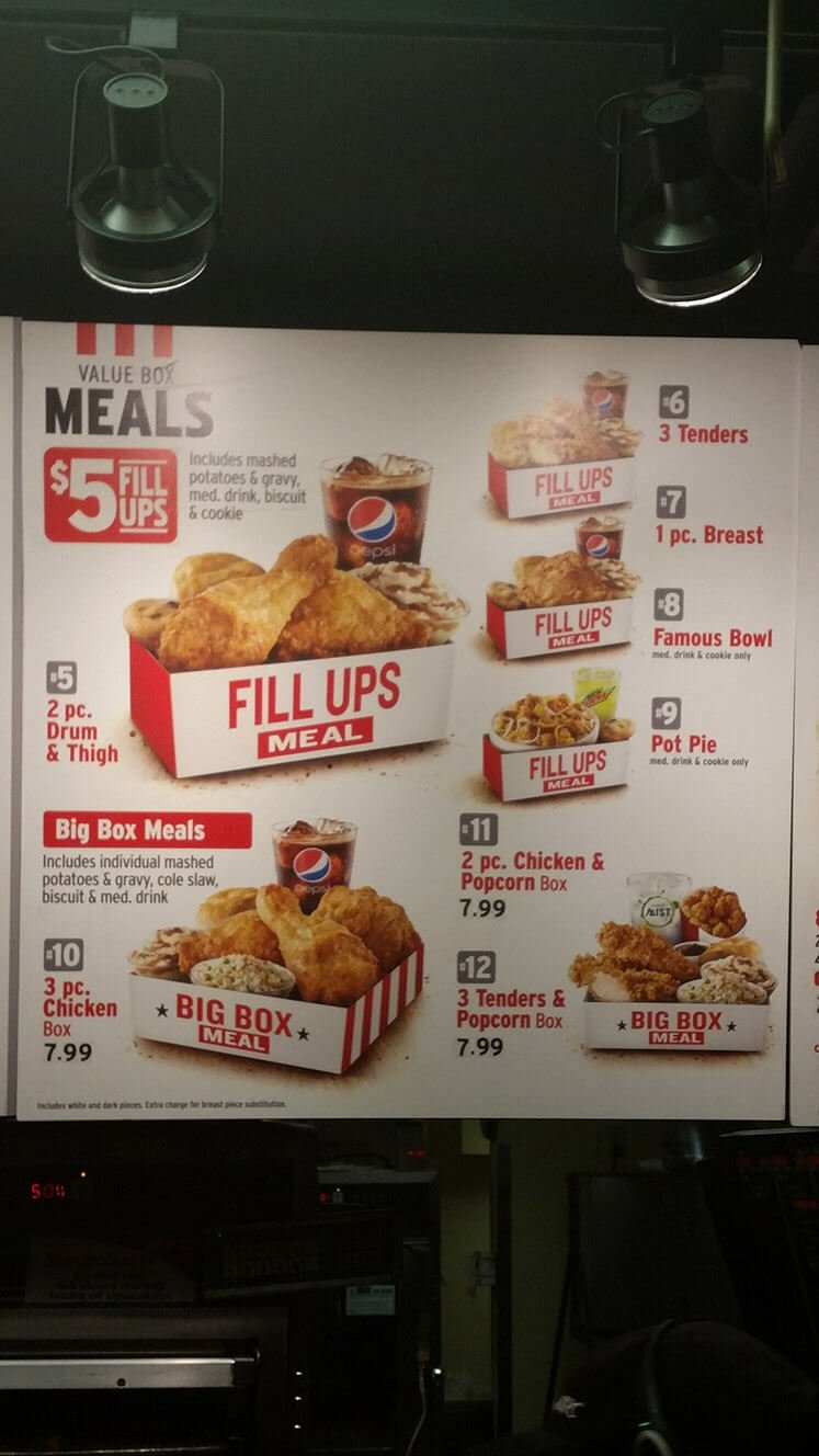 Pictures of Kfc Drive Thru Menu 2017 - #rock-cafe