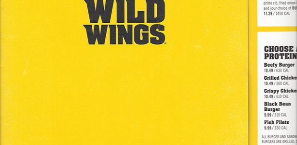 Buffalo Wild Wings Menu – 1