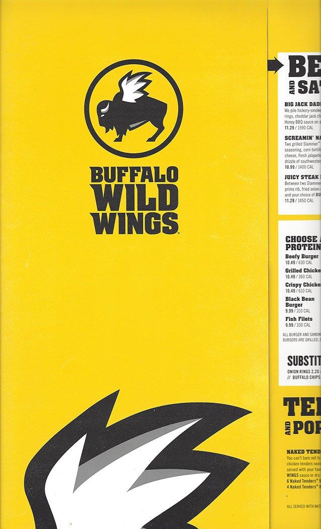 Buffalo Wild Wings Menu – 1
