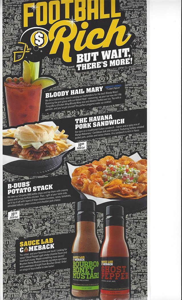 Buffalo Wild Wings Menu – 8