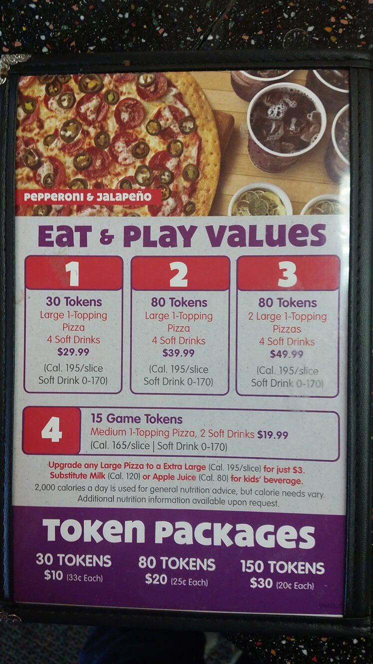 Chuck E Cheese's Menu – 3