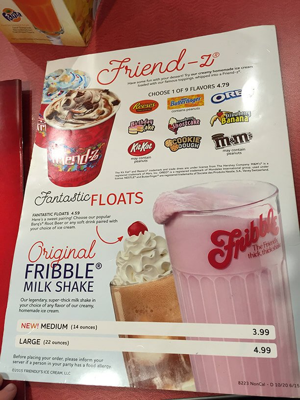 Friendlys Menu – 2