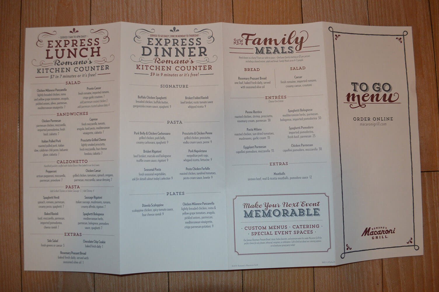 Macaroni Grill Menu Prices