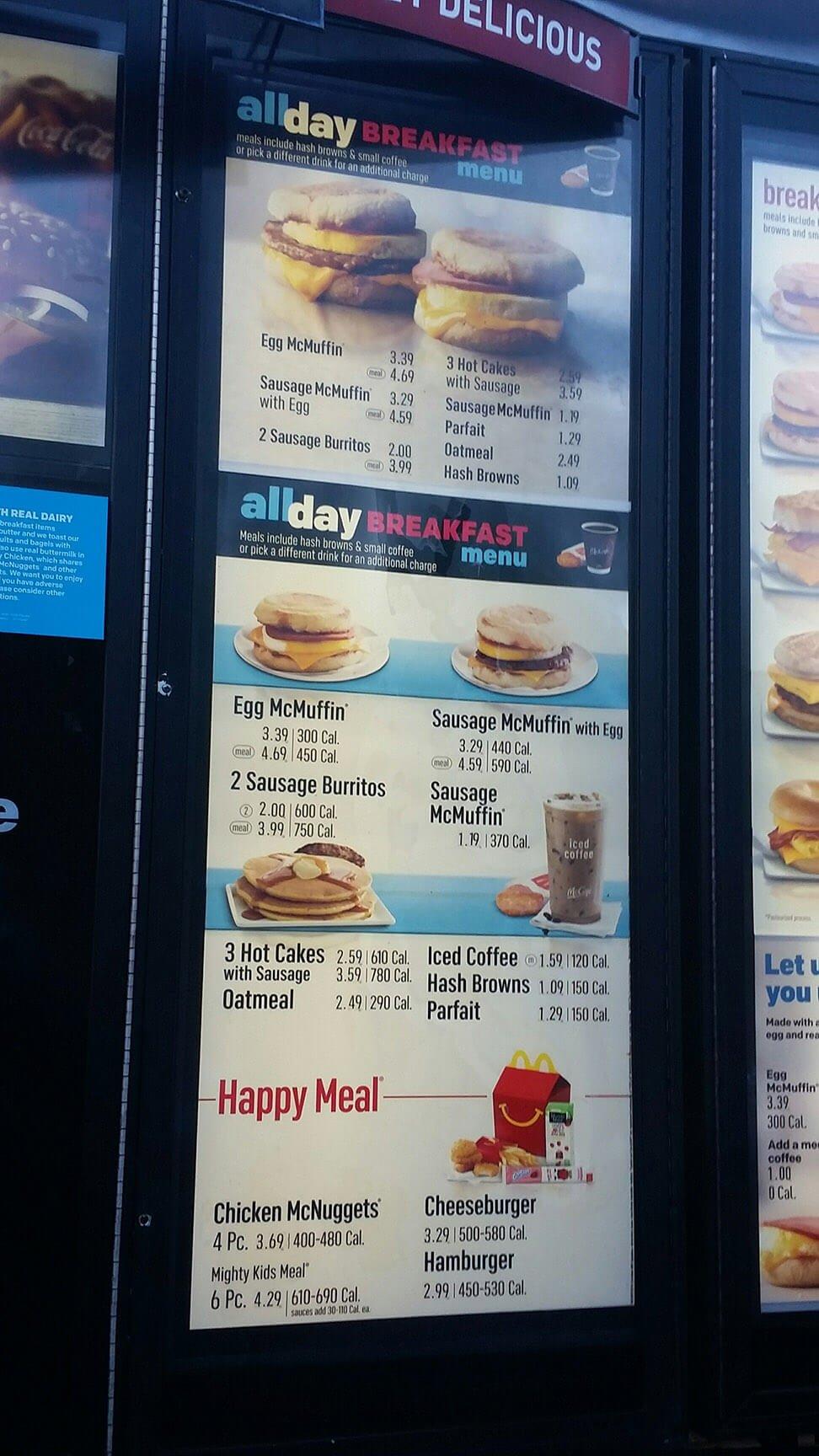 McDonalds Menu – 6