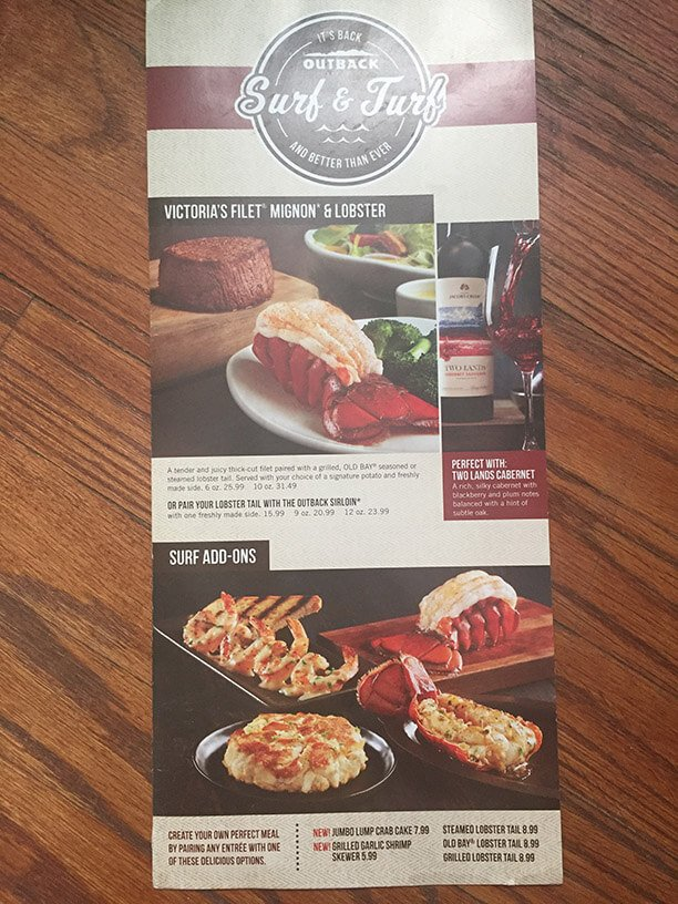 Outback Steakhouse Menu – 4