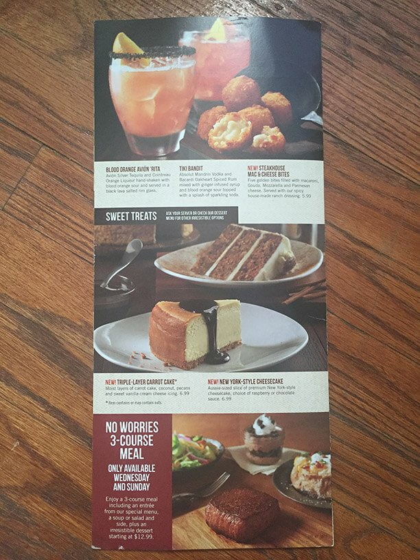 Outback Steakhouse Menu – 5