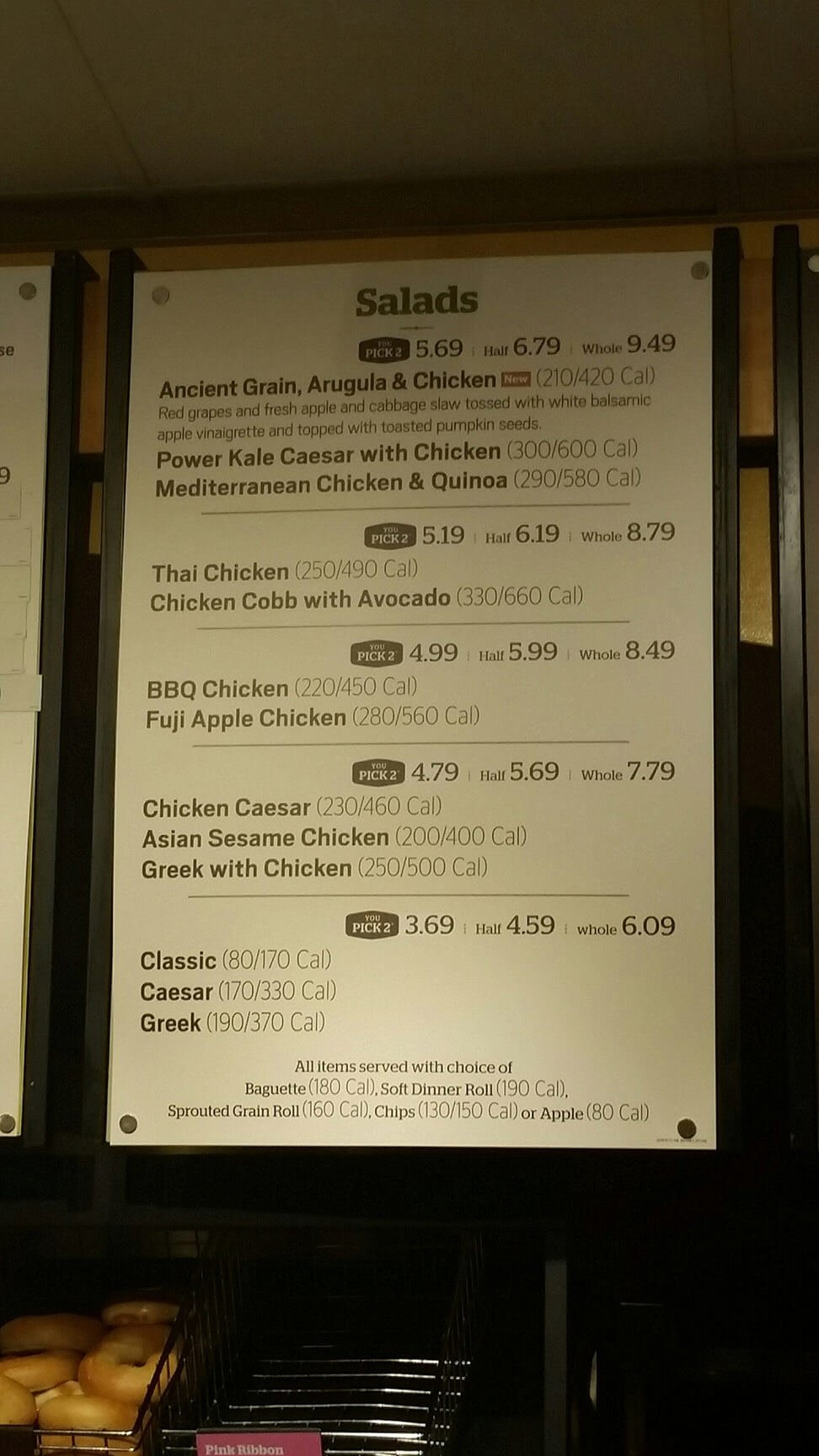 It is a graphic of Nifty Panera Bread Printable Menu With Prices