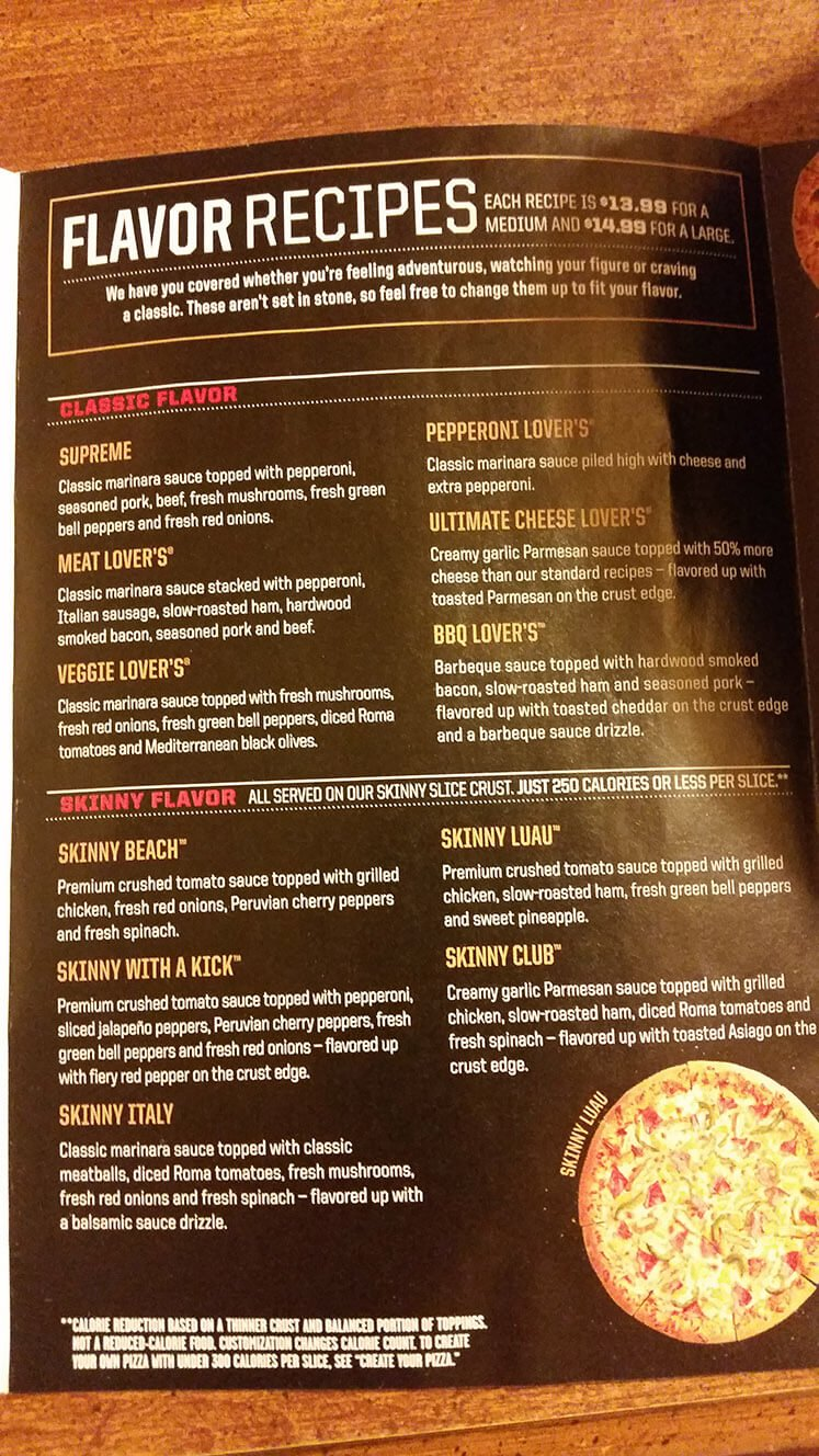 Pizza Hut Menu – 4
