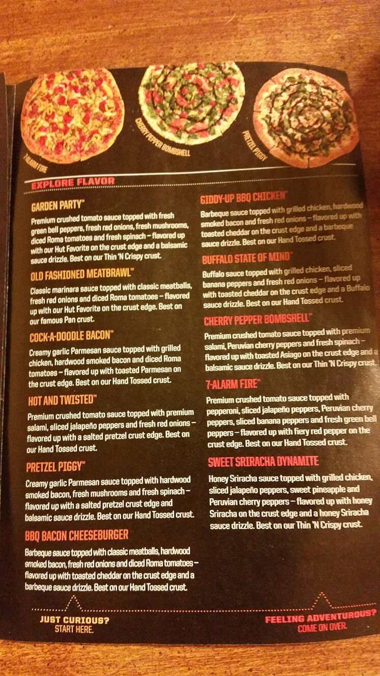 Pizza Hut Menu – 5