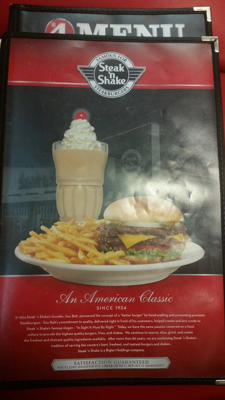 Steak n Shake Menu – 1