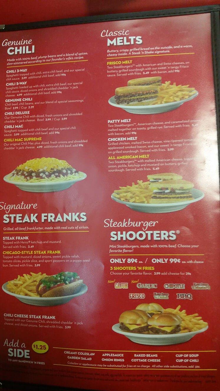 Steak n Shake Menu – 2