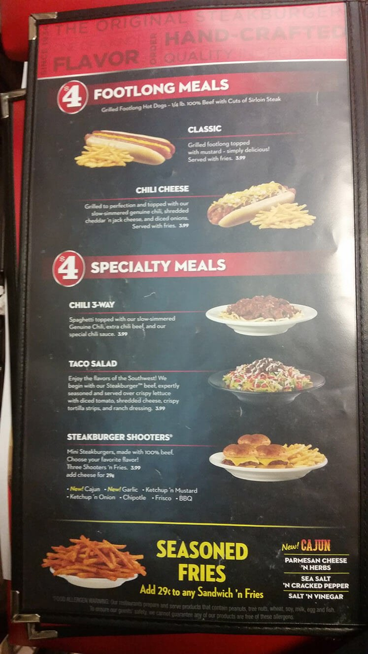 Check out the full menu for Steak 'n Shake. When available, we provide pictures, dish ratings, and descriptions of each menu item and its price. Use this menu information as a guideline, but please be aware that over time, prices and menu items may change without being reported to our site/5(54).