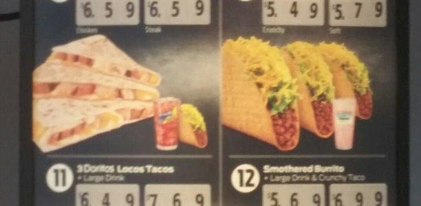 Taco Bell Menu – 1