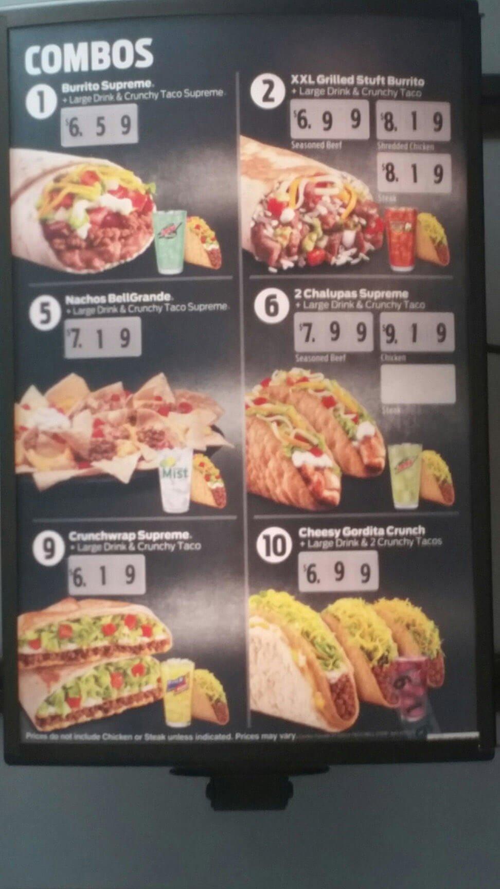 Taco Bell Menu – 2