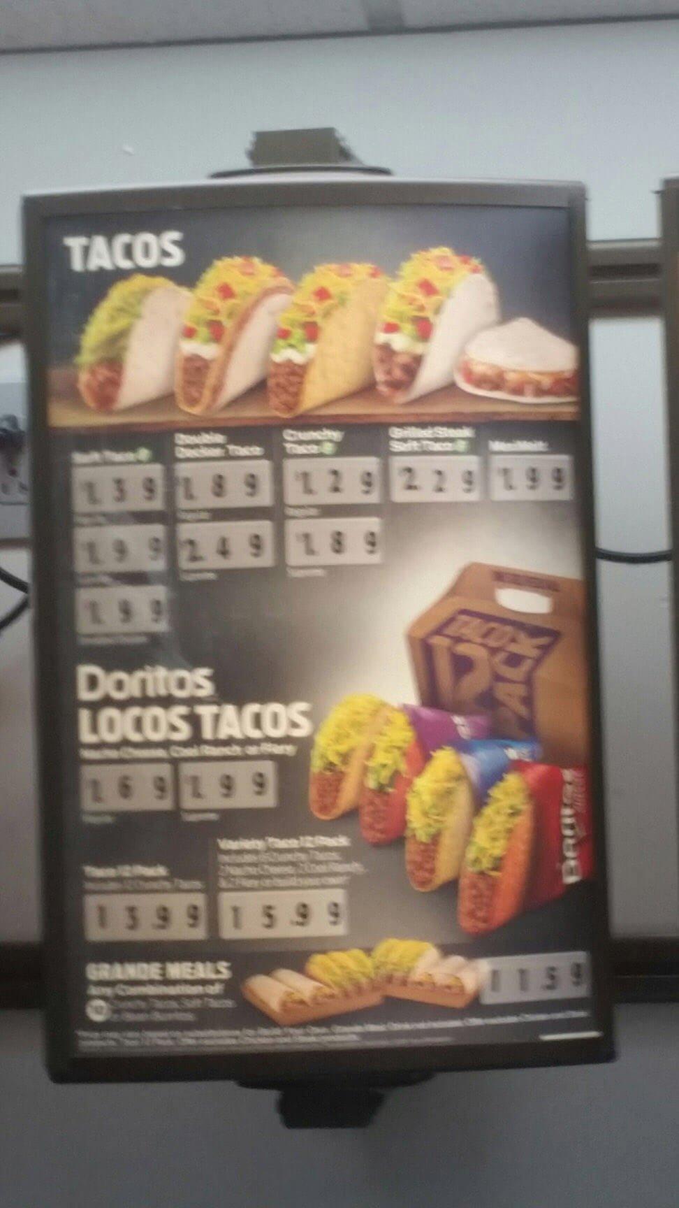 Taco Bell Menu – 9