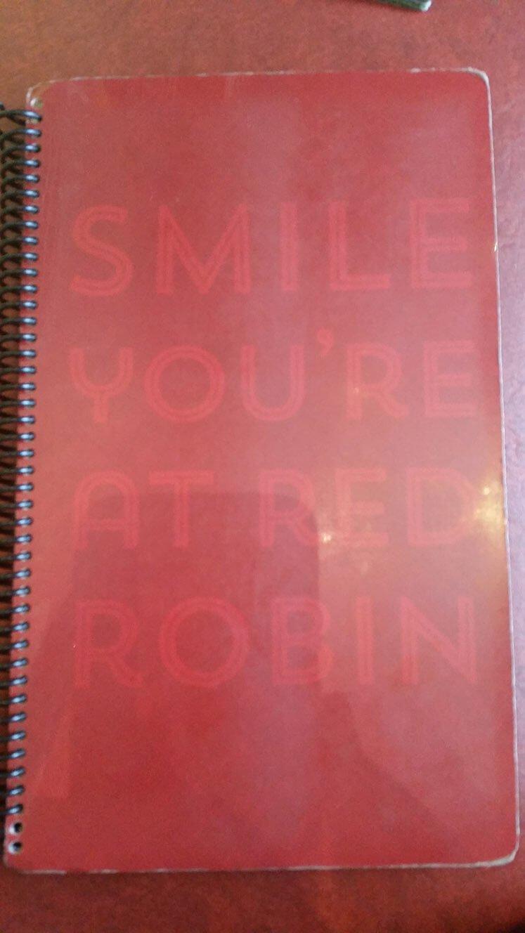 Red Robin Menu – 1