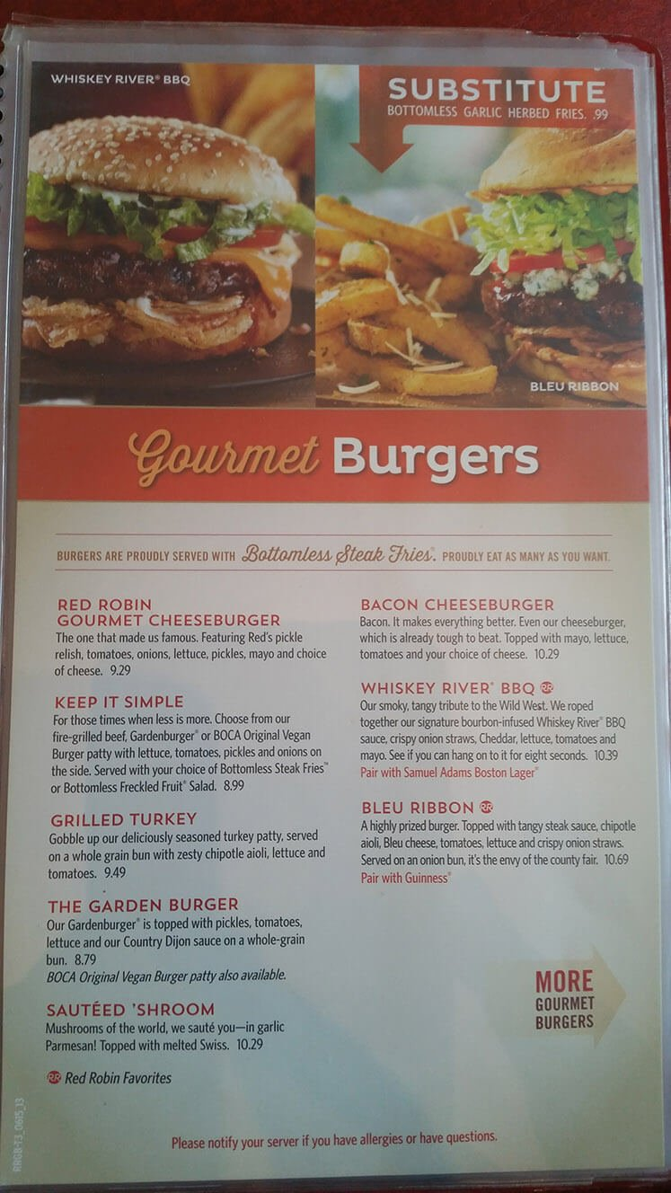 Red Robin Menu – 12