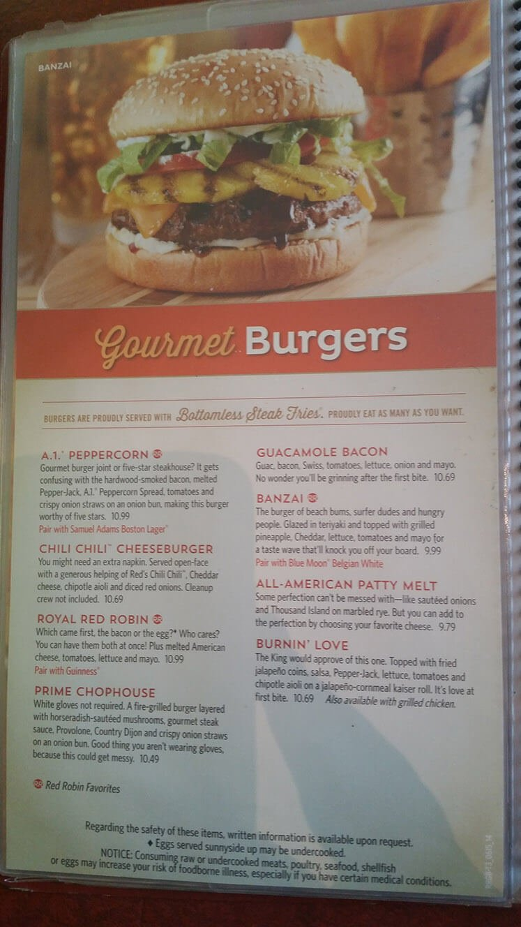 Red Robin Menu – 13