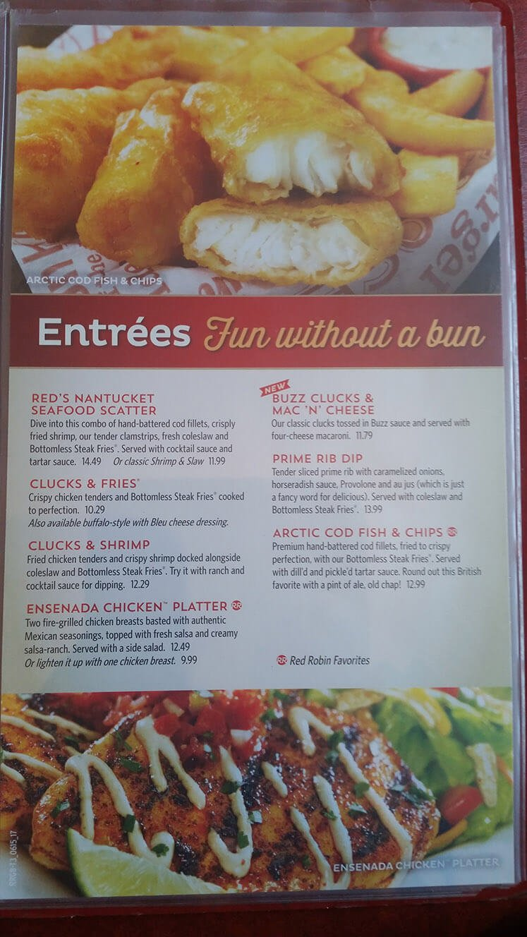 Red Robin Menu – 16
