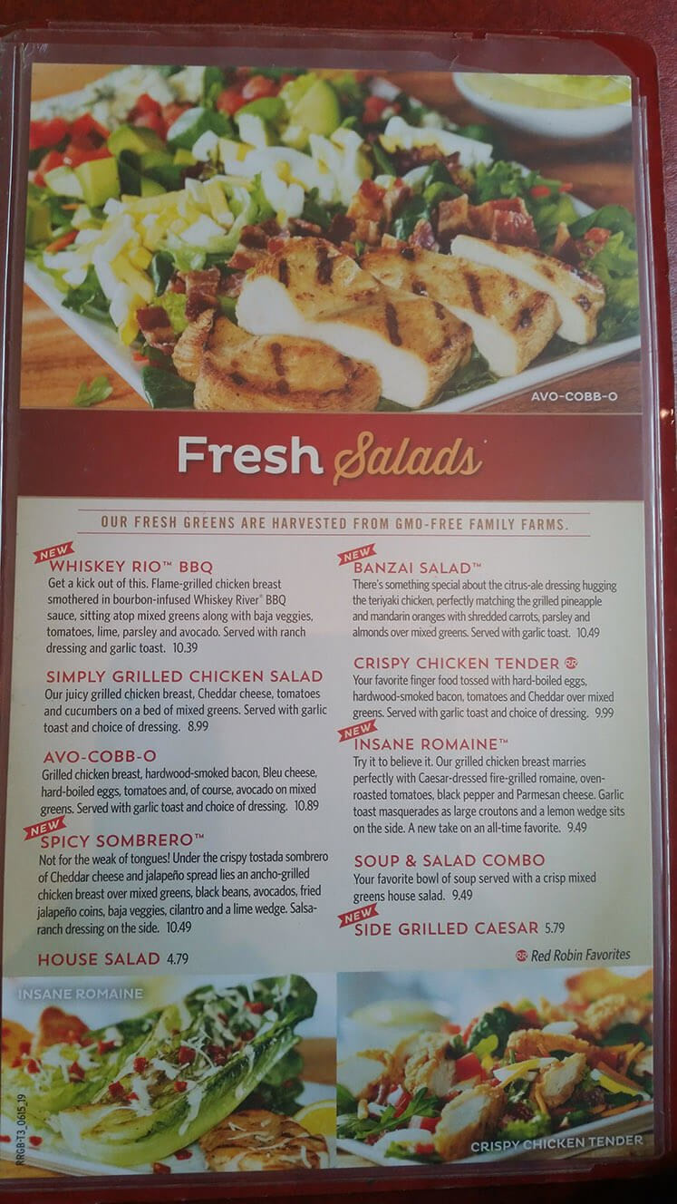 Red Robin Menu – 18