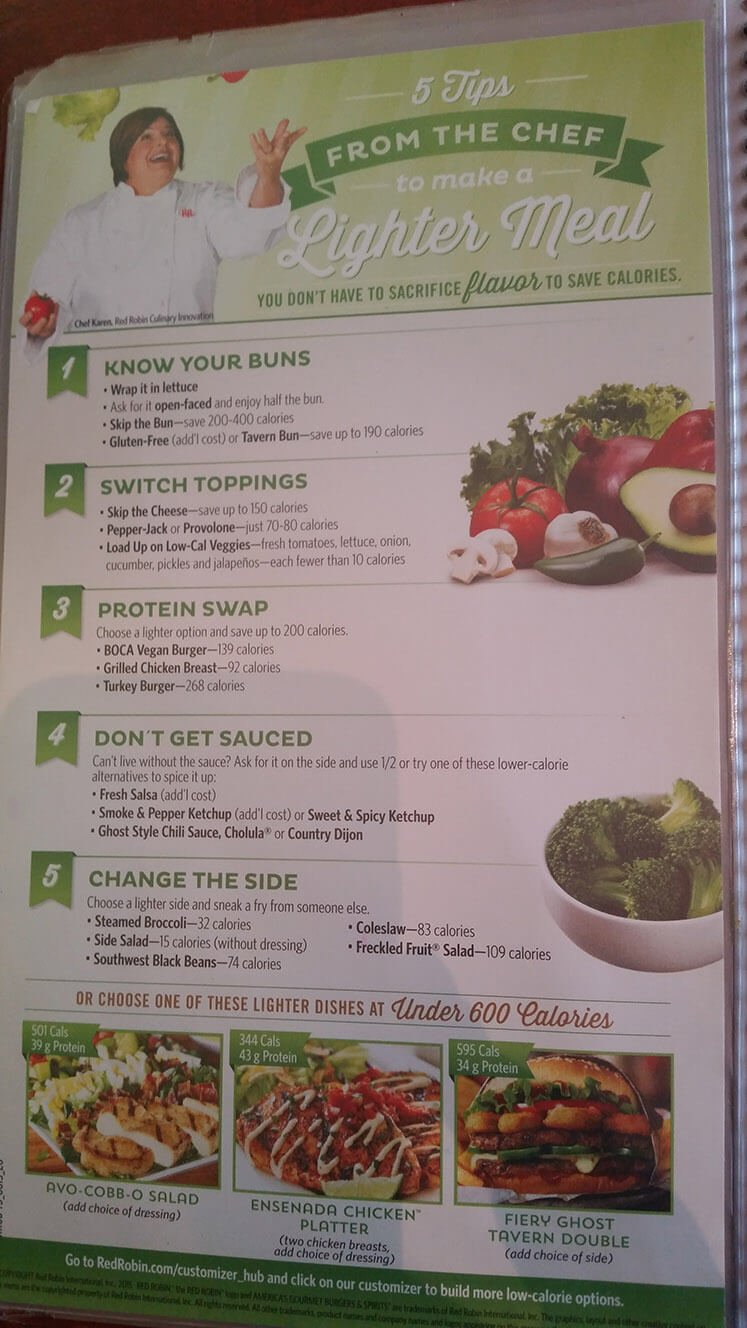 Red Robin Menu – 19