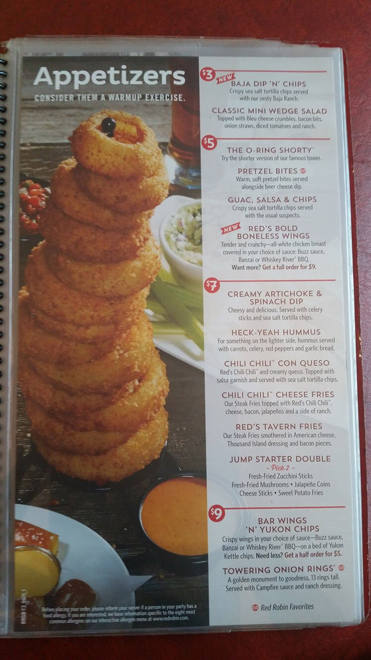 Red Robin Menu – 3