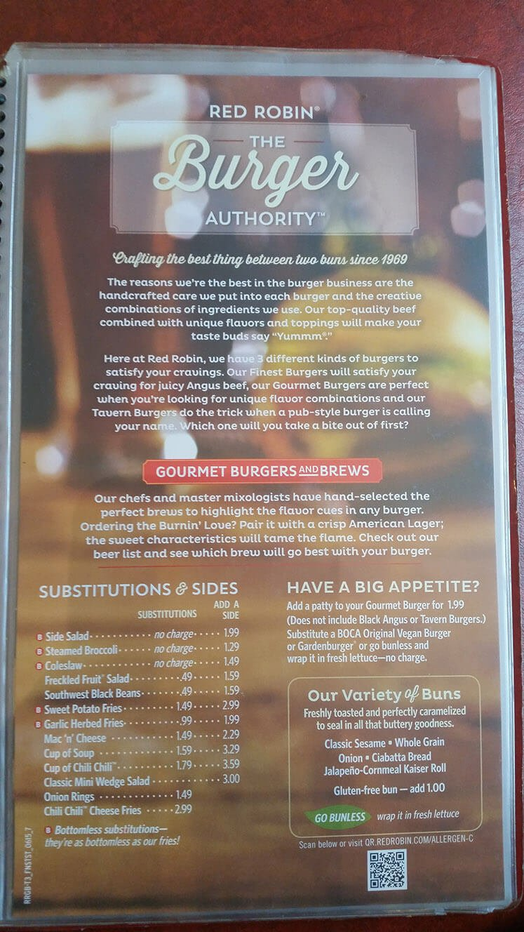 Red Robin Menu – 7