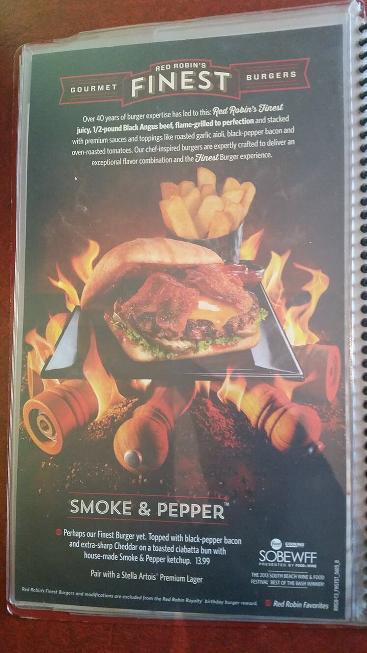 Red Robin Menu – 8