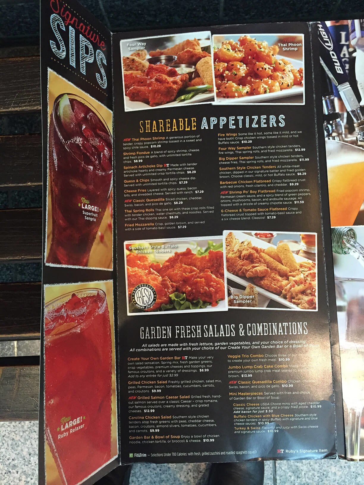 Ruby Tuesdays Menu Prices