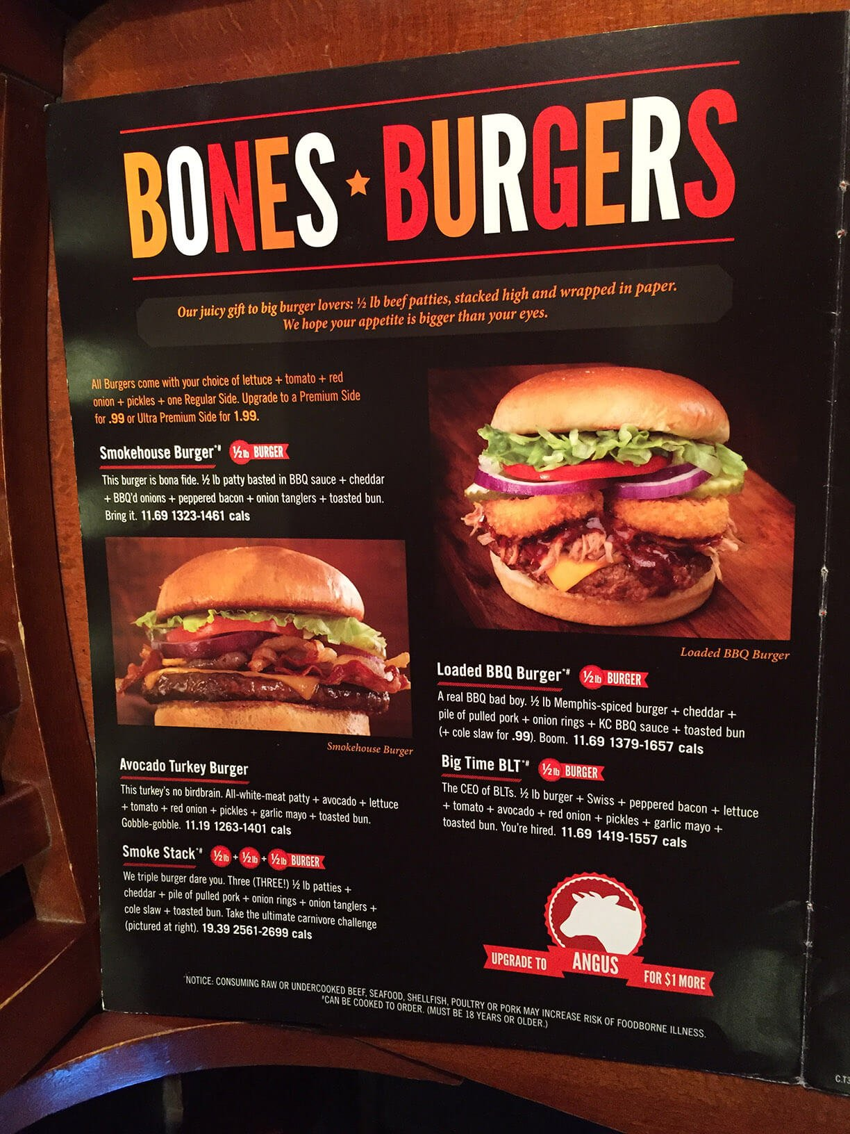 smokey bones menu prices meal items details cost smokey bones menu 4