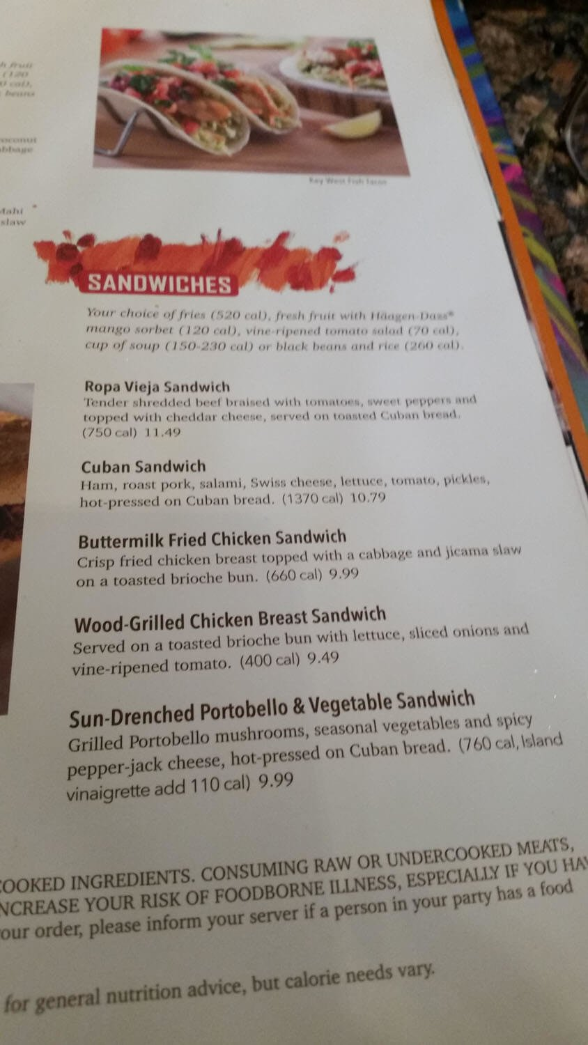 Bahama Breeze Menu – 17