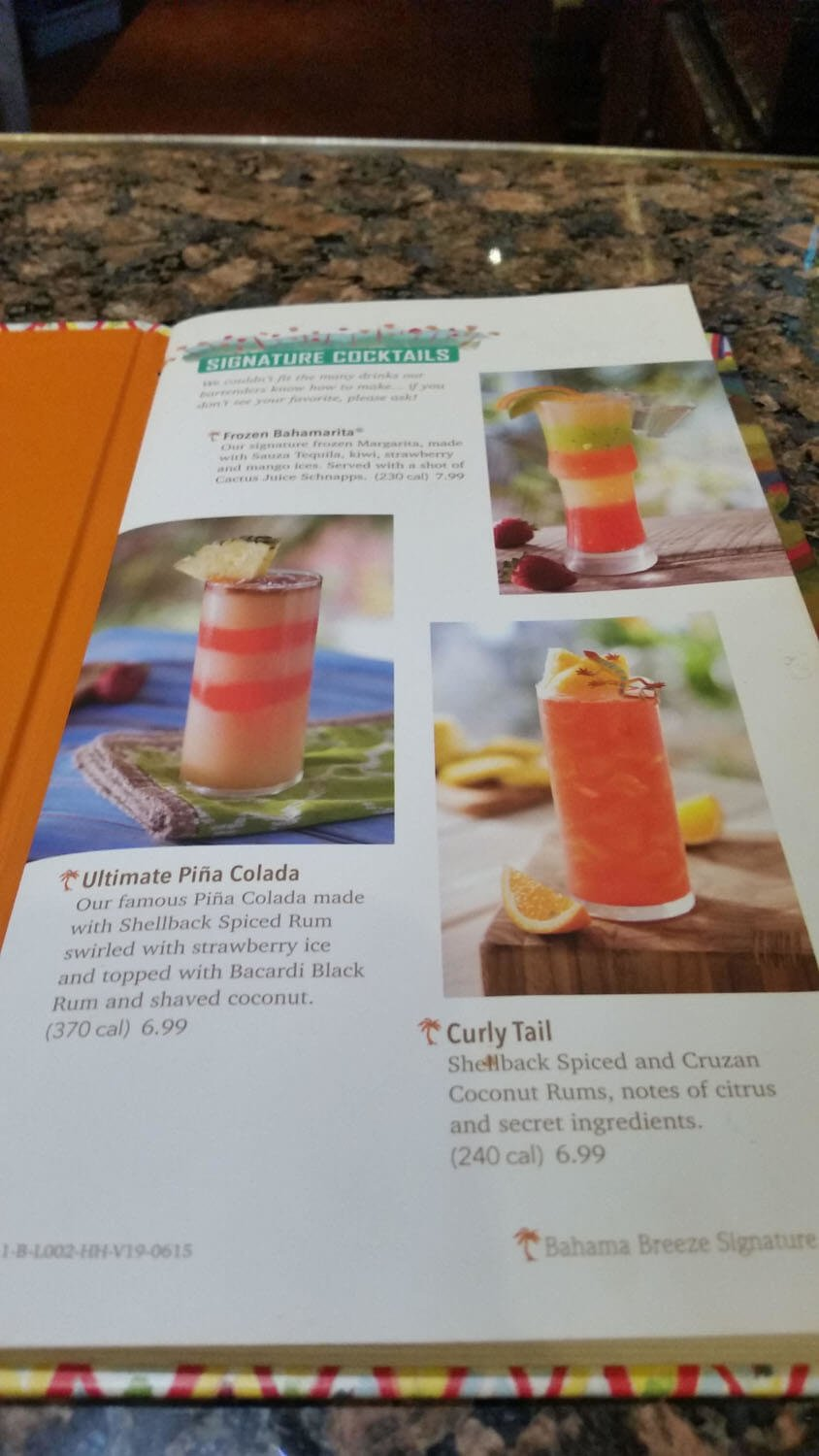 Bahama Breeze Menu – 19