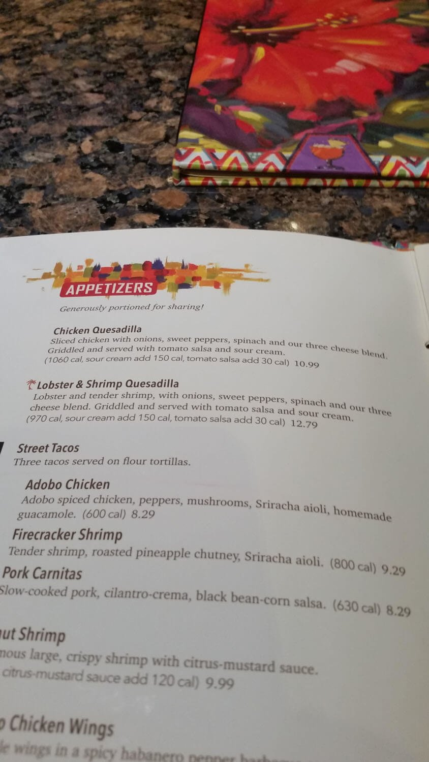 Bahama Breeze Menu – 5