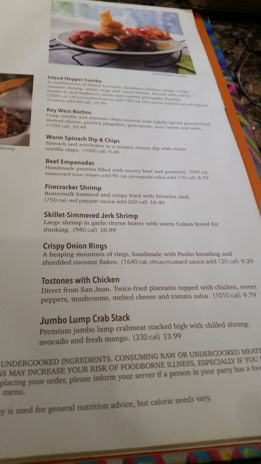 Bahama Breeze Menu – 6