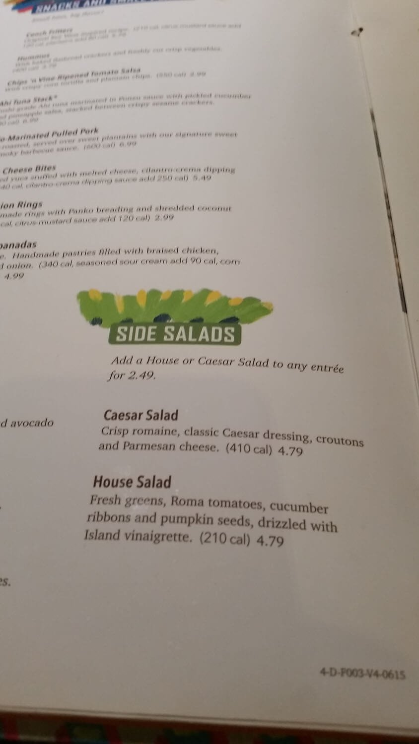 Bahama Breeze Menu – 9