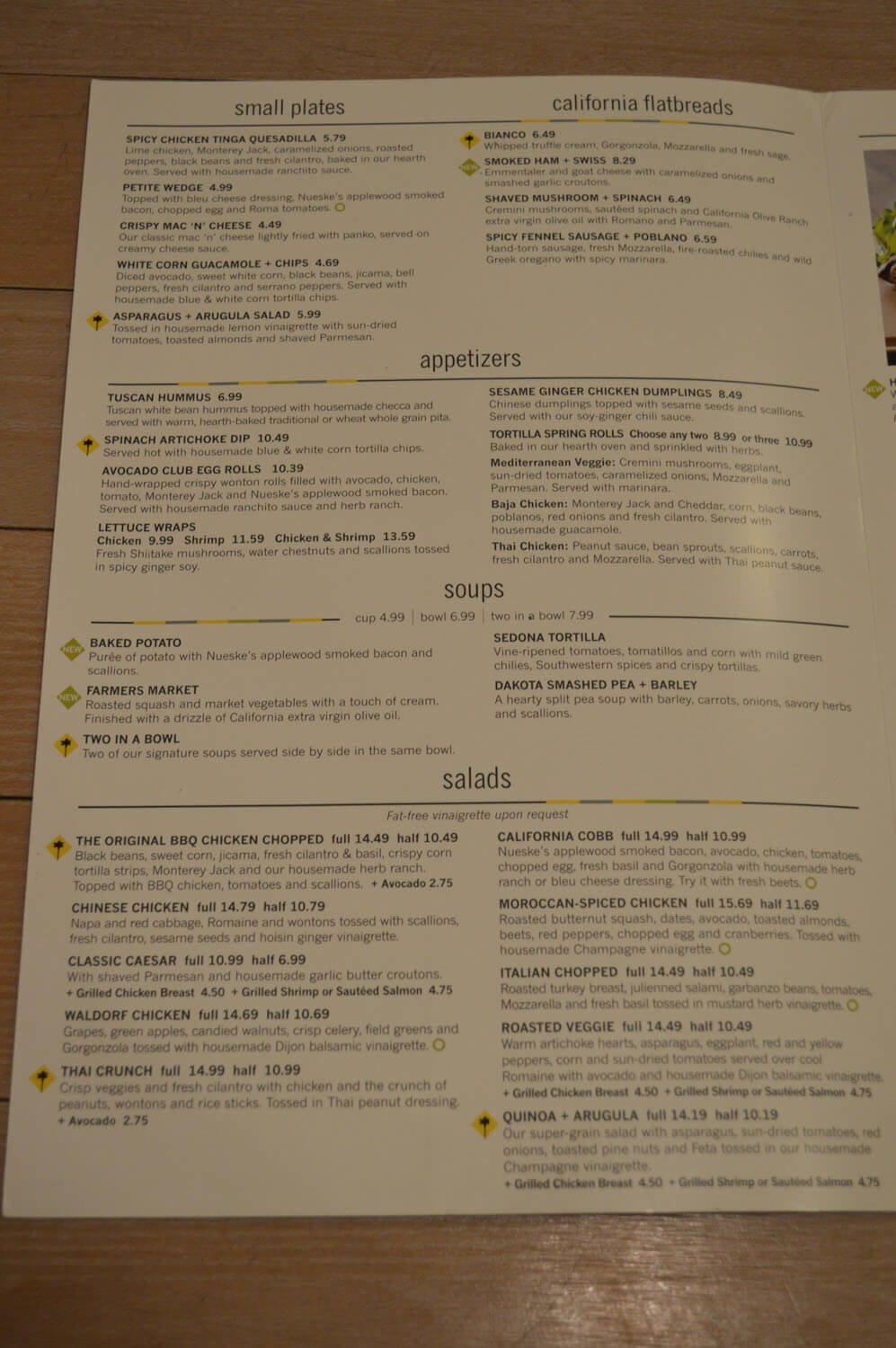 California Pizza Kitchen Menu – 10