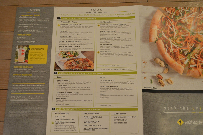 California Pizza Kitchen Menu – 13