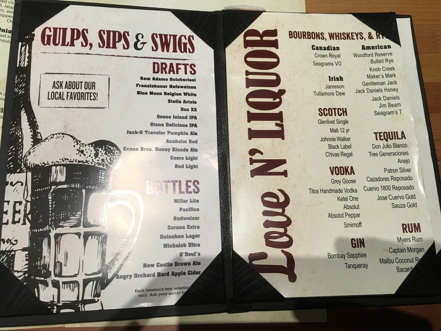 Famous Daves Menu – 1