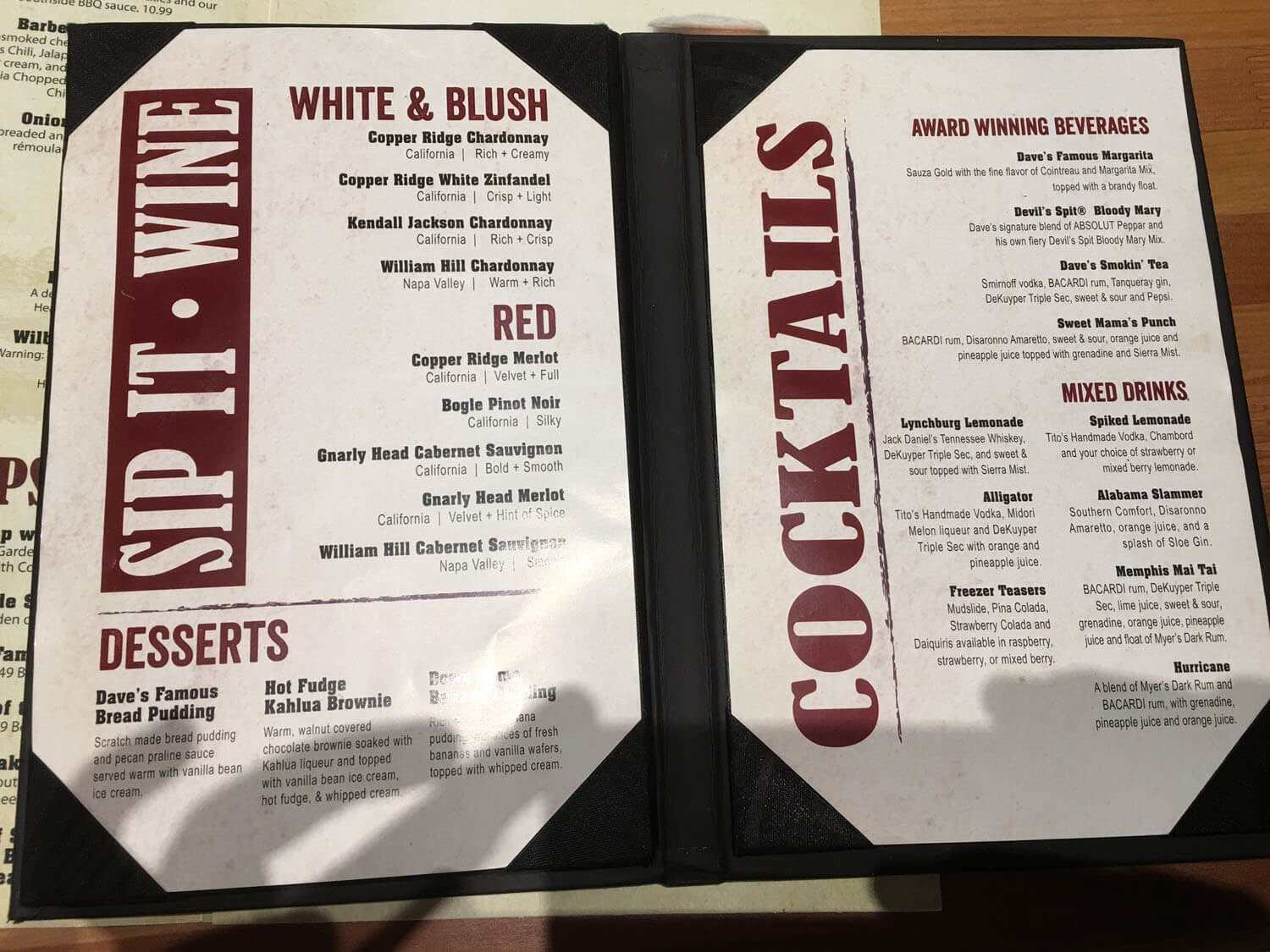 Famous Daves Menu – 2