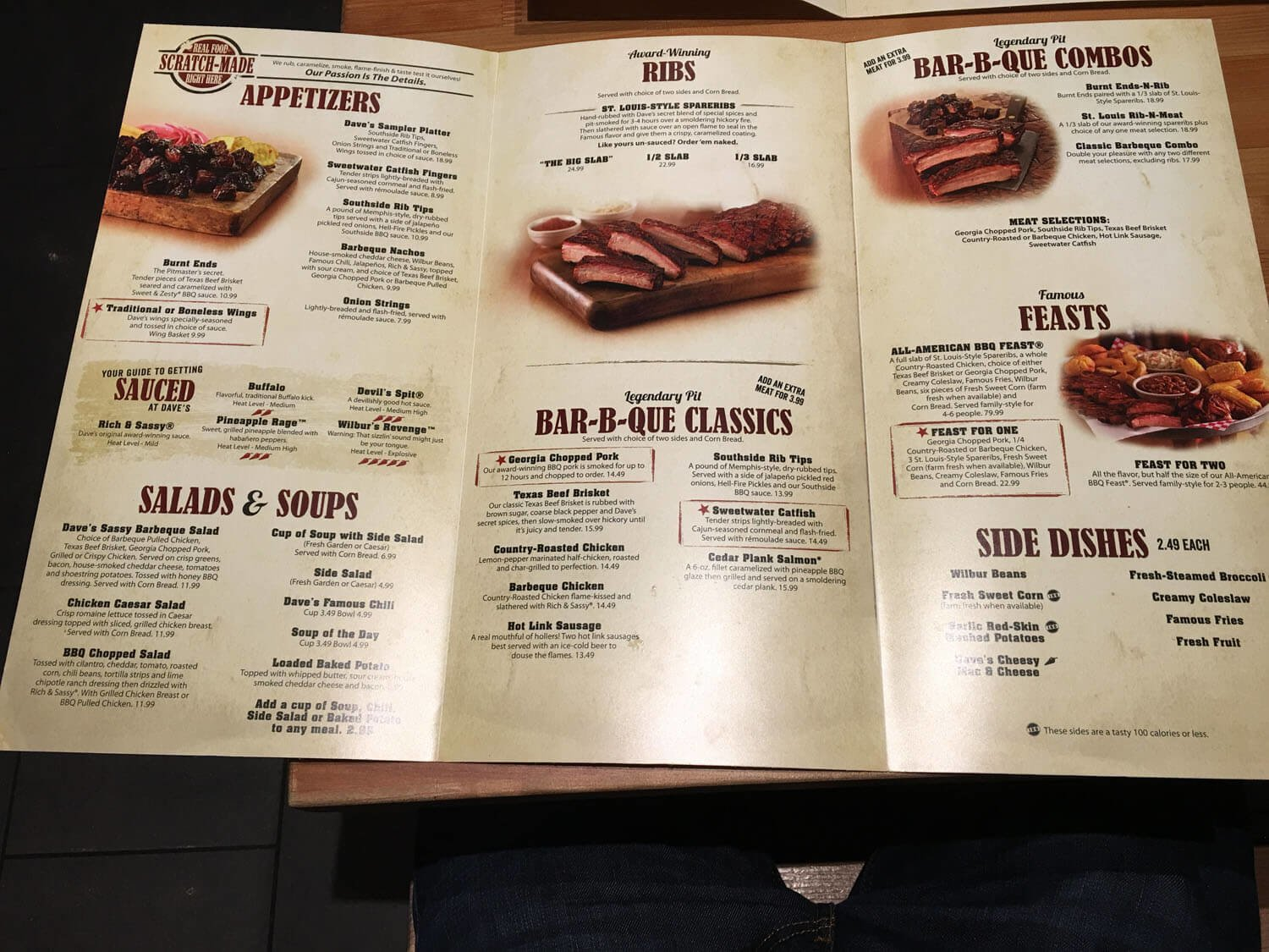 Famous Dave's Menu Prices 2017 | Meal Items, Details & Cost