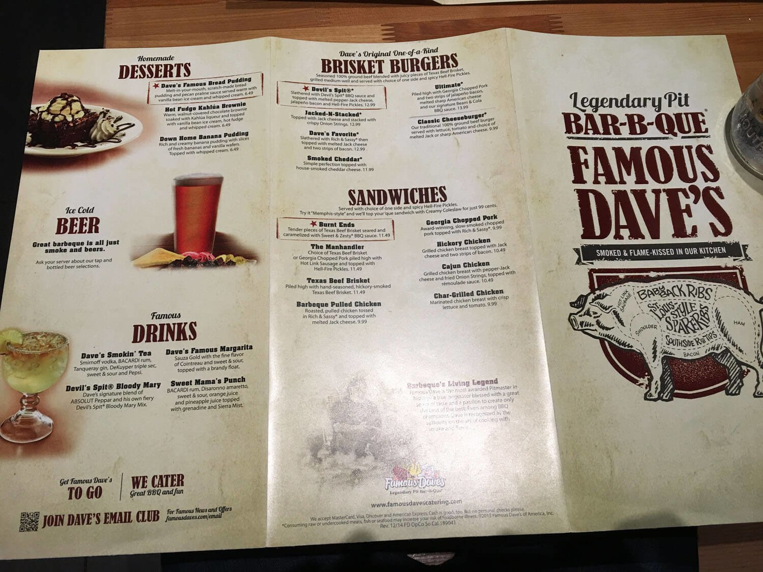 Famous Daves Menu – 4